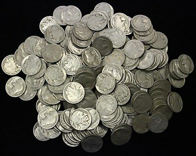 Lot Of 200 Partial Date Buffalo Nickels- Many Different Dates