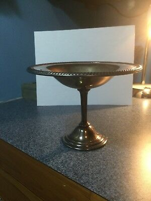 antique sterling silver candy dish