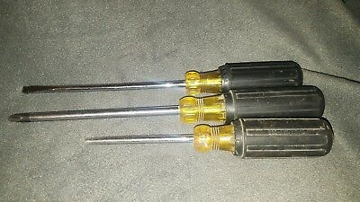 Klein Tools Screwdriver lot of 3 one broken tip