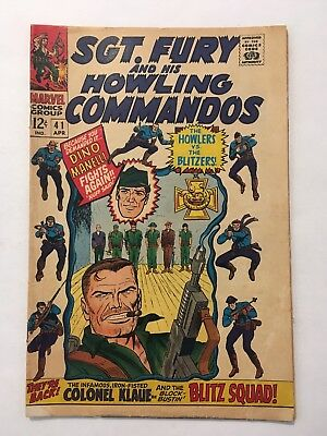 Sgt. Fury #41 (April 1967, Marvel) CLASSIC WAR HERO COMIC SERIES