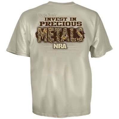 "NRA ""Invest in Precious Metals"" Men's T-Shirt Sizes L - XXL AUTHENTIC, Licensed"