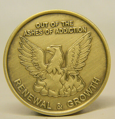 Recovery Medallion - Chip - Out Of The Ashes Of Addiction - Bronze