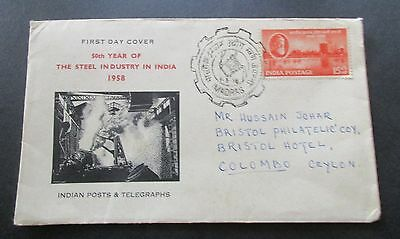 India 1958   The Steel Industry In India...fdc...madras