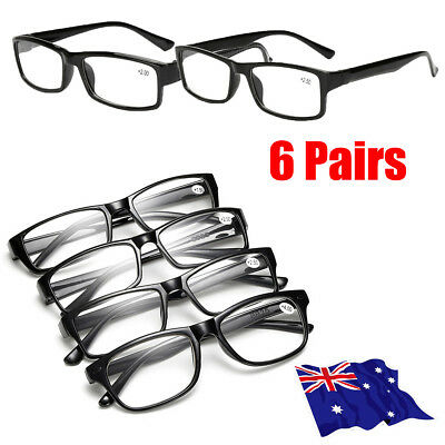 6 Pairs Mens Ladies Frame Magnifying Reading Glasses Nerd Spectacl HOT!