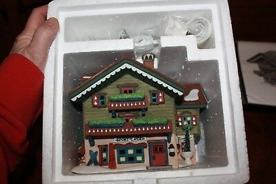 Department 56 Alpine Village Series SPORT LADEN House w/ Light & Box