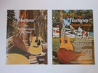 1973 - HARMONY acoustic / electric guitar catalog - 23 pgs - Flat ,Arch Tops etc