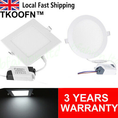 Ultraslim LED Recessed lighting panel ceiling down light round square downlights