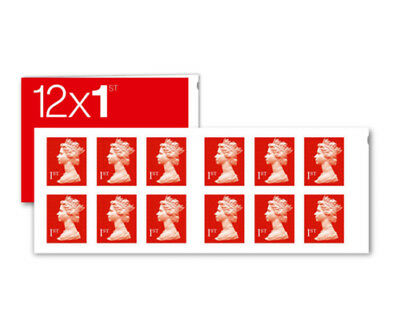 Book of 12 Standard Letter 1st Class Stamps