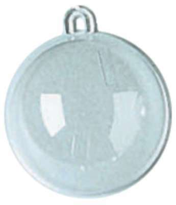 Plastic Hanging Ball Ornament 60mm Clear 082676963063
