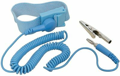 NEW Anti Static Antistatic ESD Adjustable Wrist Strap Band Blue