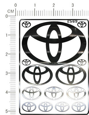 Decals Toyota Trd For Different Scales Black 00188