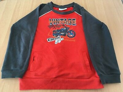 boys jumper, size 6, motorbike picture, boys clothing, Mango brand
