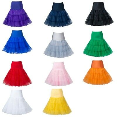 "AU SELLER 26"" Retro 50s Women Underskirt Rockabilly Bridal Petticoat Dance Tutu"