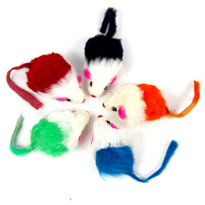5Pcs/Set Rabbit Fur False Mouse Pet Cat Toy Mini Funny Playing Toys For Kitten