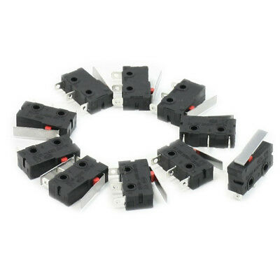 10 Pcs AC SPDT 1NO 1NC Short Straight Hinge Lever Mini Micro Switch AD L2