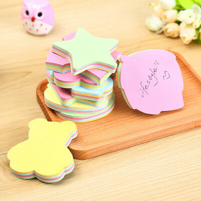 100 pages Colorful Memo Pad Paper Sticker Sticky Notes Cute Sticky Papelaria