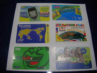 Phone Card x 6 nice lot nice pictures used