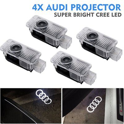 4x LED Laser Projector Logo For AUDI Door Courtesy Puddle Shadow Light Lamps