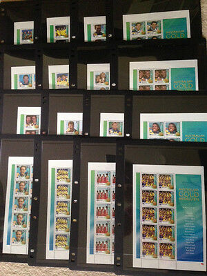 Sydney 2000 Olympic Gold Medallists multiple listing swim/polo stamp sheetlet