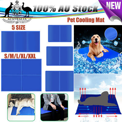M XL XXL SIZE Dog Cat Cool Bed Gel Mat Non-Toxic Cooling Summer Bed Pad Large AU