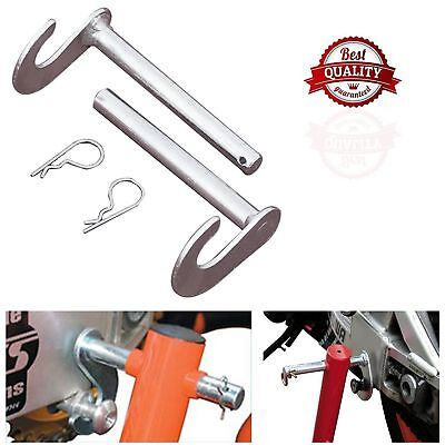 Pair Of Motorcycle Motorbike Bike Bobbin Adaptor Hooks Rear Paddock Stand Kit 2x