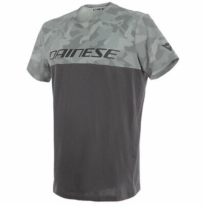 Dainese Motorbike Motorcycle Camo Tracks Casual T-Shirt - Anthracite