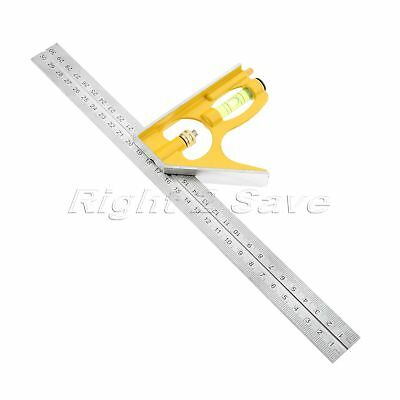 300mm Adjustable Sliding Combination Square Angle Ruler Machinist Measuring Tool