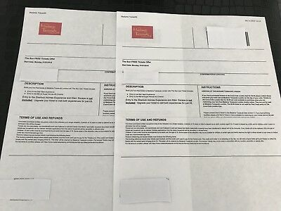 Madame Tussauds London x 2 tickets for Monday 1st January 2018