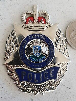 ACT police plaque badge Australia Federal