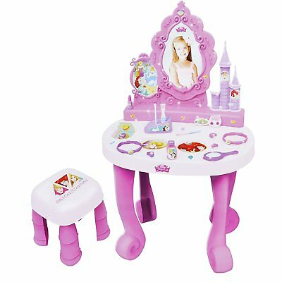 Disney Princess Dressing Table Play Set Girls Vanity Mirror Toy 17 Accessories
