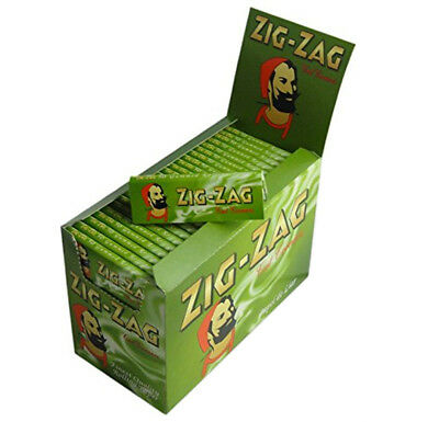 Zig-Zag Cut Corner Green Regular Size Rolling Papers Tobacco Cigarette Joint