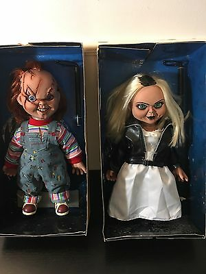 "Chucky & Bride Of Chucky Dolls RARE Sideshow Collectables ""Child's Play"" Movies"