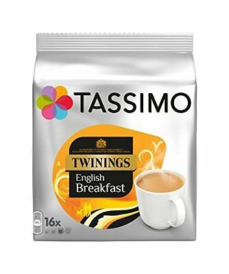 Tassimo Twinings English Breakfast Tea 16 servings  Pack of 5, 80 servings pods