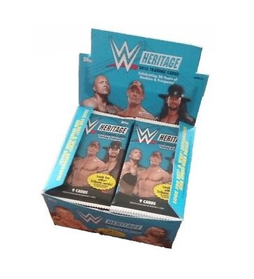 WWE Topps 2015 Heritage Trading Card Packet 9 Cards ** 5 Packs **