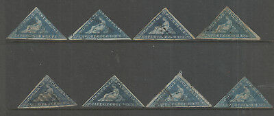 Cape Of Good Hope X 8 Stamps Used , Mixed Condition Lot 2.