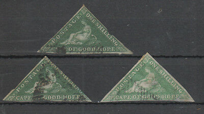Cape Of Good Hope , 3 X 1/- Shillings All Have Thins
