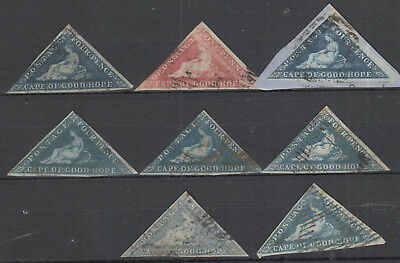 Cape Of Good Hope  X 8S Tamps Used, Mixed Condition Lot 1.