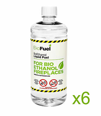 Bioethanol Fuel for Fires 6L, FREE NEXT DAY DELIVERY, Premium Quality,Clean Burn