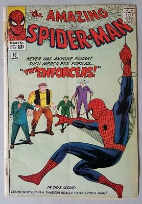The Amazing Spider-Man #10 1st App Of The Enforcers GD Steve Ditko & Jack Kirby