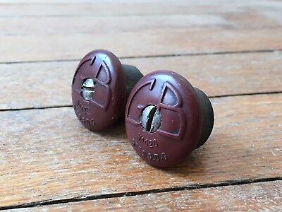 Embout Guidon GB PARIS N°120 BORDEAUX 40s Bouchon Vélo ancien Bar end Plugs Caps