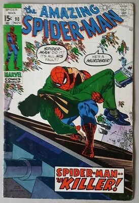 The Amazing Spider-Man #90 Death Of Captain Stacy VG+ Marvel Comics