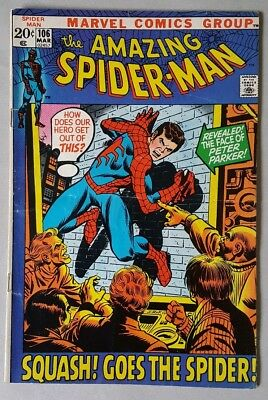 The Amazing Spider-man #106  VG+/FN+** Double Cover (Very Rare)** Marvel Comics