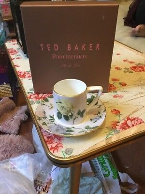 Portmeirion Ted Baker Rosie Lee Lilac Espresso Cup And Saucer Brand New