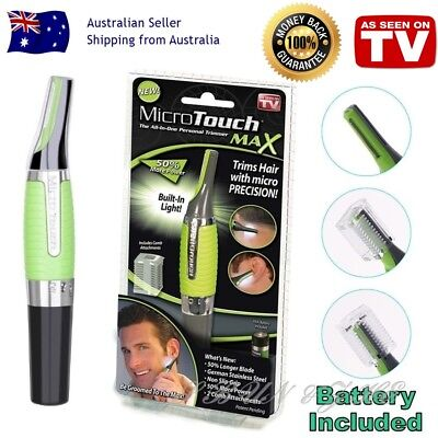 New Micro Touch Max Personal Hair Trimmer Groomer Nose Ear Eyebrows Neck Shaver