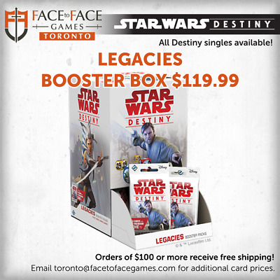 PREORDER Star Wars Destiny - Legacies Booster Box FREE SHIPPING