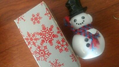 Avon Dapper Snowman for Sweet Honesty Cologne. 1fl.oz. Holiday collection.