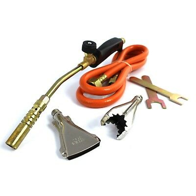 Gas Heating Flame Torch Plumber Universal Long Arm Welding Set Blow Roofing Best