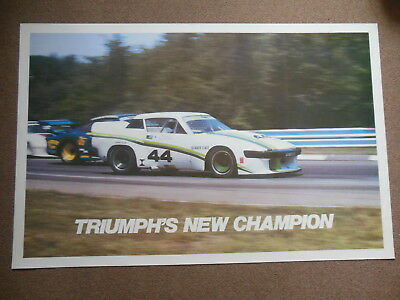 "NOS British Leyland Group 44 TR8 Factory Dealer Racing Poster 35"" by 28"""