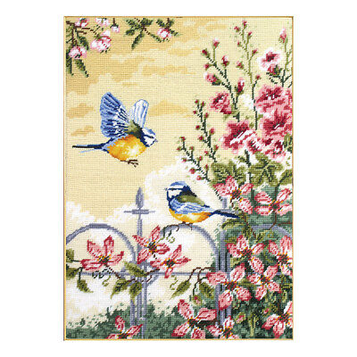 ANCHOR | Tapestry Kit: Floral Railings and Blue Tits | MR163
