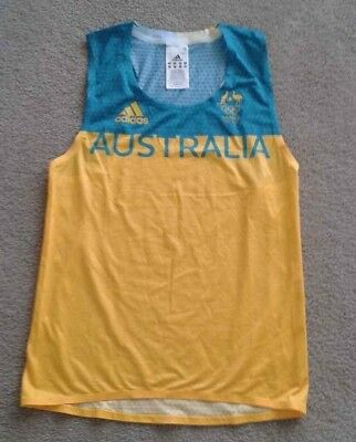 2016 Rio Olympics AUSTRALIA adidas shirt singlet Athlete player issue jersey